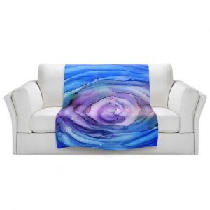 Artistic Sherpa Pile Blankets   Shay Livenspargar - Dazzed   Abstract storm eye Hurricane