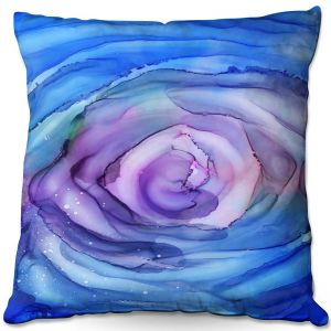 Decorative Outdoor Patio Pillow Cushion | Shay Livenspargar - Dazzed | Abstract storm eye Hurricane