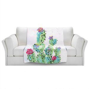 Artistic Sherpa Pile Blankets   Shay Livenspargar - Desert Love   Cactus Blooming