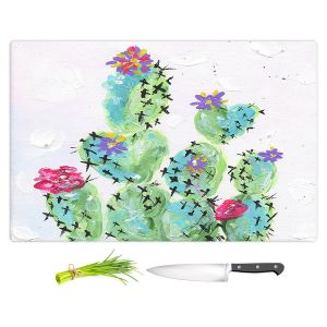 Artistic Kitchen Bar Cutting Boards | Shay Livenspargar - Desert Love | Cactus Blooming