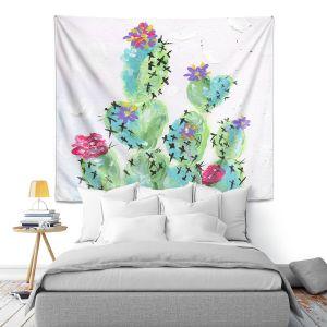 Artistic Wall Tapestry | Shay Livenspargar - Desert Love | Cactus Blooming