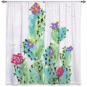 Decorative Window Treatments | Shay Livenspargar - Desert Love | Cactus Blooming