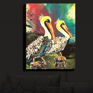 Nightlight Sconce Canvas Light | Shay Livenspargar - Dos Pelicans | Nautical Water Harbor Wild animal