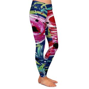 Casual Comfortable Leggings | Shay Livenspargar - Evening Rose | Florals Flowers Abstract