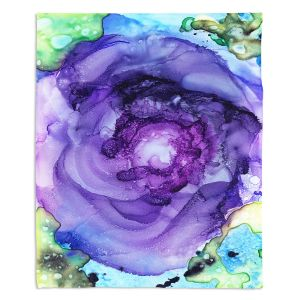 Artistic Sherpa Pile Blankets | Shay Livenspargar - Eye of the Beholder | Floral flower abstract
