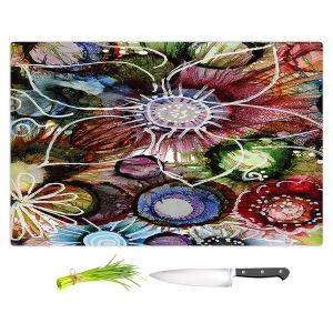 Artistic Kitchen Bar Cutting Boards   Shay Livenspargar - Fall Fun   Abstract Flower