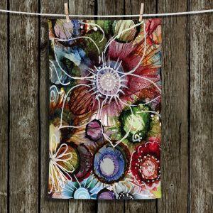 Unique Bathroom Towels | Shay Livenspargar - Fall Fun | Abstract Flower