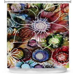 Premium Shower Curtains | Shay Livenspargar - Fall Fun | Abstract Flower