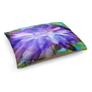 Decorative Dog Pet Beds | Shay Livenspargar - Floral Explosion | Blue Flowers floral
