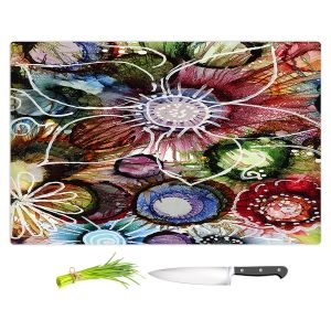 Artistic Kitchen Bar Cutting Boards   Shay Livenspargar - Flowers Abstract   Abstract Flower