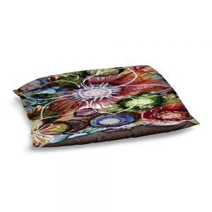Decorative Dog Pet Beds | Shay Livenspargar - Flowers Abstract | Abstract Flower