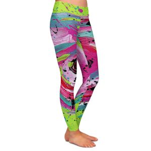 Casual Comfortable Leggings | Shay Livenspargar - Groovin | Florals Flowers Abstract
