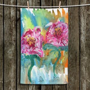 Unique Bathroom Towels | Shay Livenspargar - In Sync | Florals Flowers Abstract