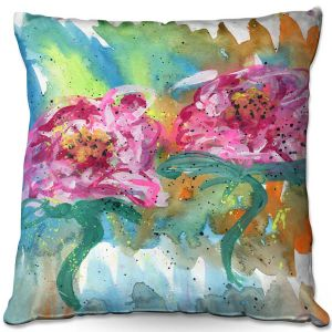 Throw Pillows Decorative Artistic | Shay Livenspargar - In Sync | Florals Flowers Abstract