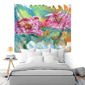 Artistic Wall Tapestry | Shay Livenspargar - In Sync | Florals Flowers Abstract