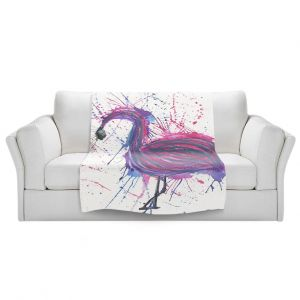 Artistic Sherpa Pile Blankets   Shay Livenspargar - Jazzy Flamingo   Wild Animal abstract