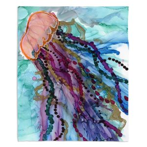 Artistic Sherpa Pile Blankets | Shay Livenspargar - Jellyfish Kisses | Ocean wild life, Octopus