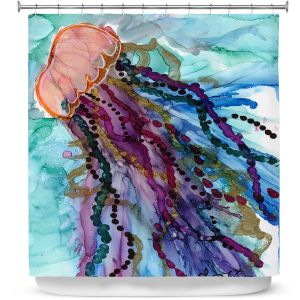 Premium Shower Curtains | Shay Livenspargar - Jellyfish Kisses