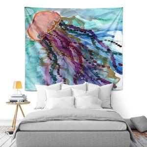 Artistic Wall Tapestry | Shay Livenspargar - Jellyfish Kisses | Ocean wild life, Octopus