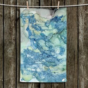 Unique Hanging Tea Towels | Shay Livenspargar - Just Breathe | Abstract Marble