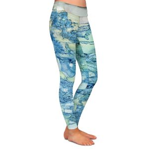 Casual Comfortable Leggings | Shay Livenspargar - Just Breathe | Abstract Marble