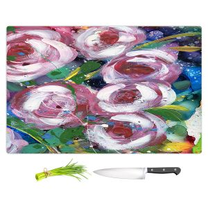 Artistic Kitchen Bar Cutting Boards | Shay Livenspargar - La Roseraie | Nature Flowers