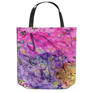 Unique Shoulder Bag Tote Bags | Shay Livenspargar - Lines | abstract colorful painting