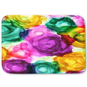 Decorative Bathroom Mats | Shay Livenspargar - Lost in Flowers | Flowers Floral Abstract Colorful