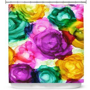 Premium Shower Curtains | Shay Livenspargar - Lost in Flowers