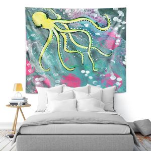 Artistic Wall Tapestry   Shay Livenspargar - Magical   Octopus Colorful painting