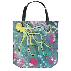 Unique Shoulder Bag Tote Bags   Shay Livenspargar - Magical   Octopus Colorful painting