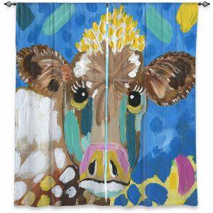 Decorative Window Treatments | Shay Livenspargar - Molly Moo | Cow Animal Abstract