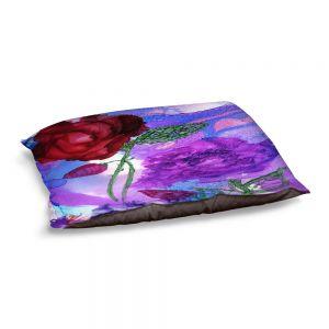 Decorative Dog Pet Beds | Shay Livenspargar - Monets Rose | Nature Flowers