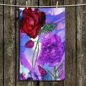 Unique Hanging Tea Towels | Shay Livenspargar - Monets Rose | Nature Flowers