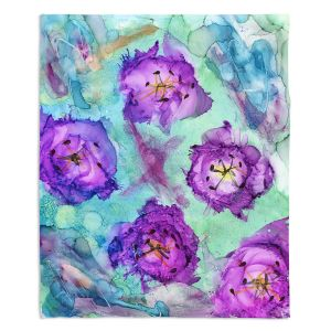 Decorative Fleece Throw Blankets | Shay Livenspargar - Mystafying | Nature Flowers