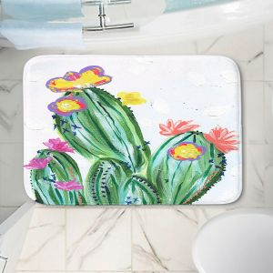 Decorative Bathroom Mats | Shay Livenspargar - Paiges Cactus | Cactus Blooming