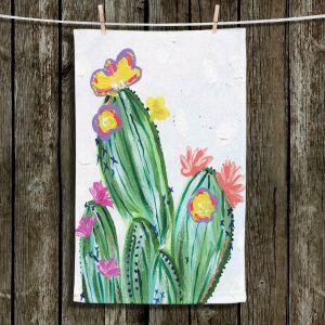Unique Hanging Tea Towels   Shay Livenspargar - Paiges Cactus   Cactus Blooming