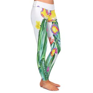 Casual Comfortable Leggings | Shay Livenspargar - Paiges Cactus | Cactus Blooming