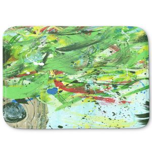 Decorative Bathroom Mats | Shay Livenspargar - Perched Within | Abstract tree birds