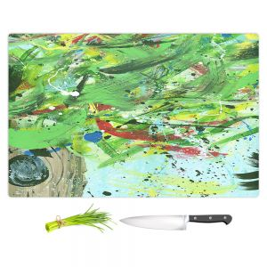 Artistic Kitchen Bar Cutting Boards | Shay Livenspargar - Perched Within | Abstract tree birds