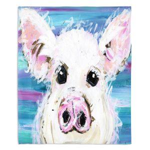 Artistic Sherpa Pile Blankets | Shay Livenspargar - Pig Pen | Farm Animals
