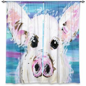 Decorative Window Treatments | Shay Livenspargar - Pig Pen | Farm Animals