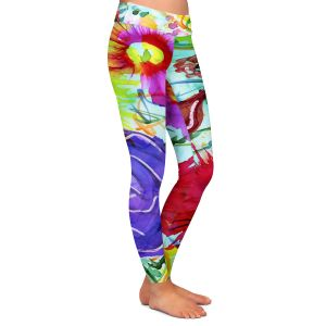 Casual Comfortable Leggings | Shay Livenspargar - Playful | Florals Flowers Abstract