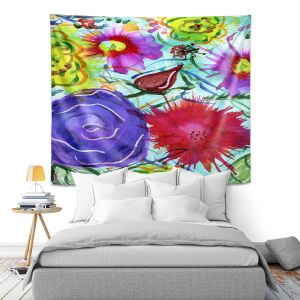 Artistic Wall Tapestry | Shay Livenspargar - Playful | Florals Flowers Abstract