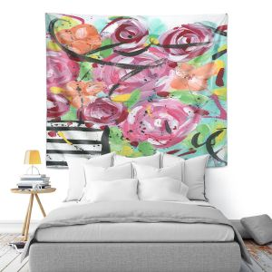 Artistic Wall Tapestry | Shay Livenspargar - Pop of Floral | Abstract flowers floral