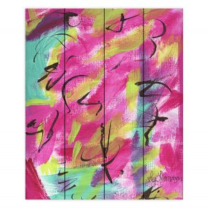 Decorative Wood Plank Wall Art | Shay Livenspargar - Raspberry | Colorful Abstract