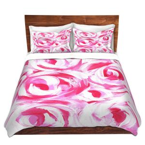 Artistic Duvet Covers and Shams Bedding | Shay Livenspargar - Romantic | Florals Flowers Abstract