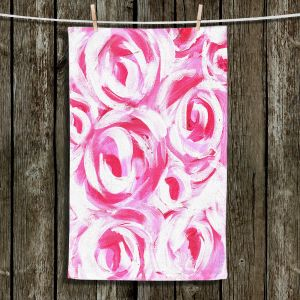 Unique Hanging Tea Towels | Shay Livenspargar - Romantic | Florals Flowers Abstract