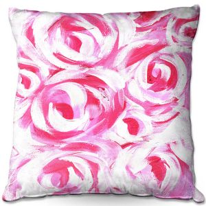 Throw Pillows Decorative Artistic | Shay Livenspargar - Romantic | Florals Flowers Abstract