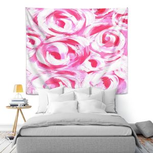 Artistic Wall Tapestry | Shay Livenspargar - Romantic | Florals Flowers Abstract